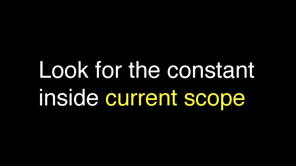 Look for the constant inside current scope