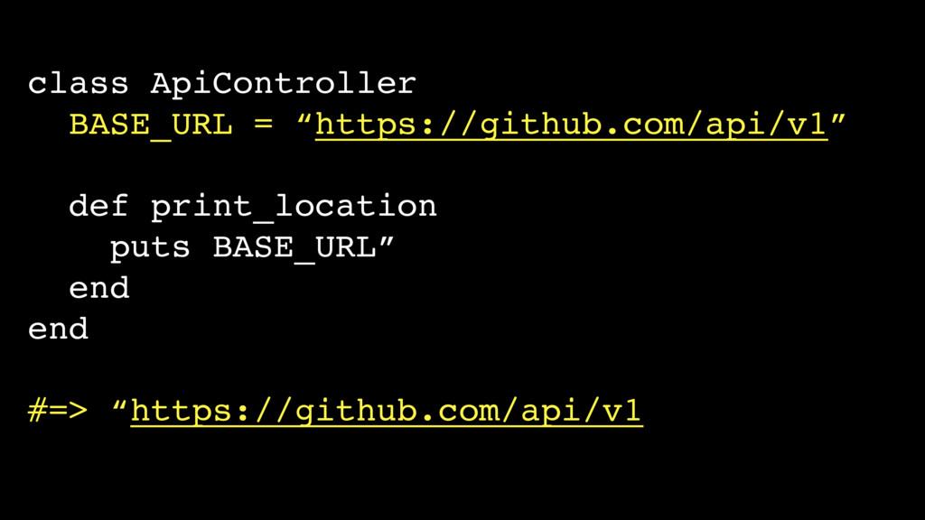 "class ApiController BASE_URL = ""https://github...."