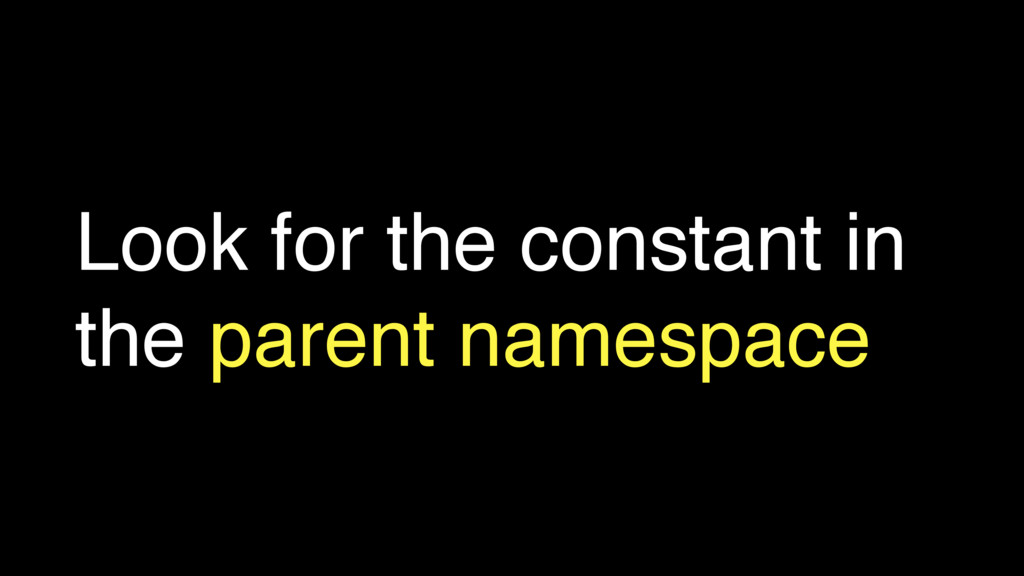 Look for the constant in the parent namespace
