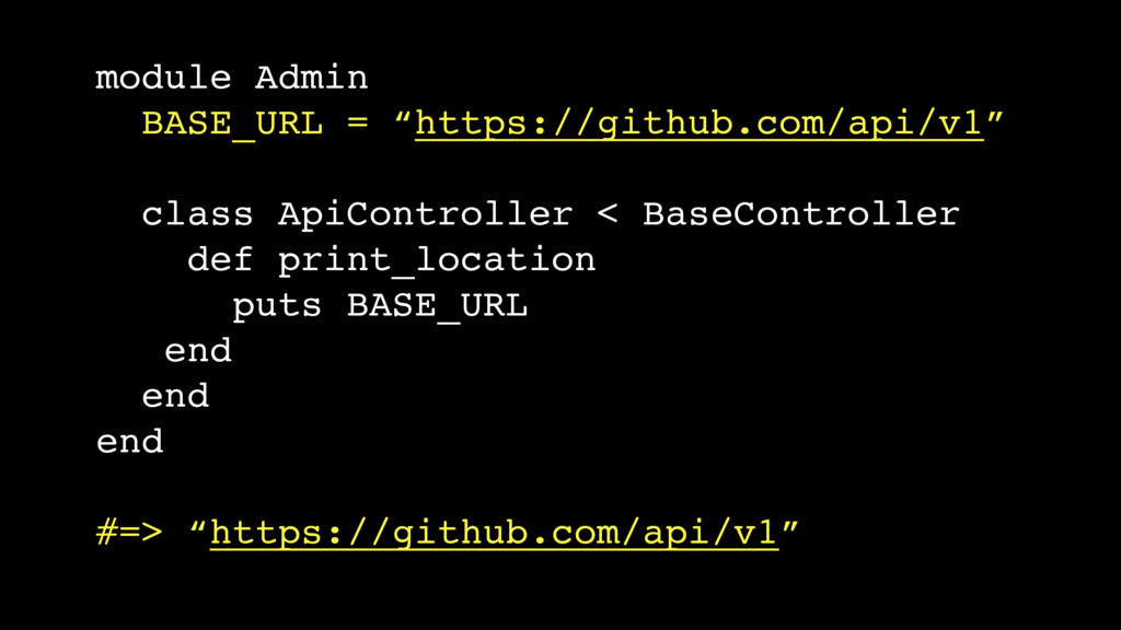"module Admin BASE_URL = ""https://github.com/api..."