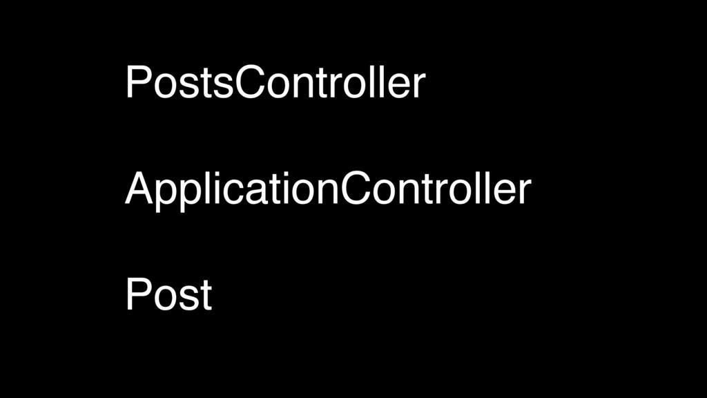 PostsController ApplicationController Post