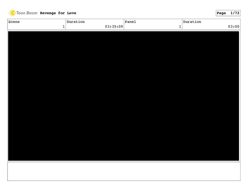 Scene 1 Duration 03:35:09 Panel 1 Duration 03:0...