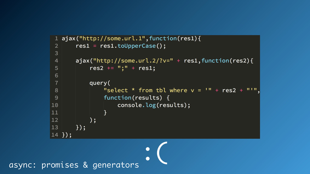 async: promises & generators :(