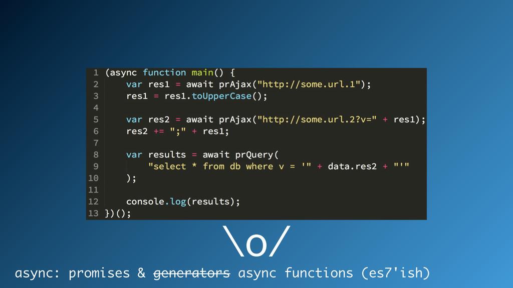 async: promises & generators async functions (e...