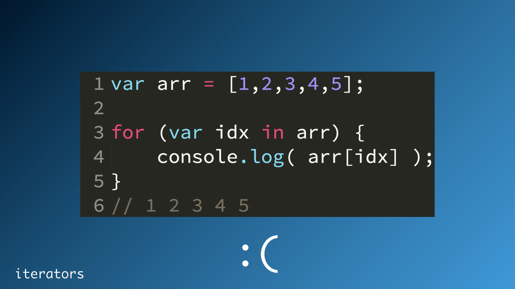 iterators :(