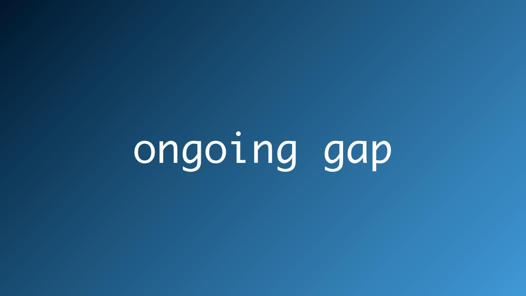 ongoing gap