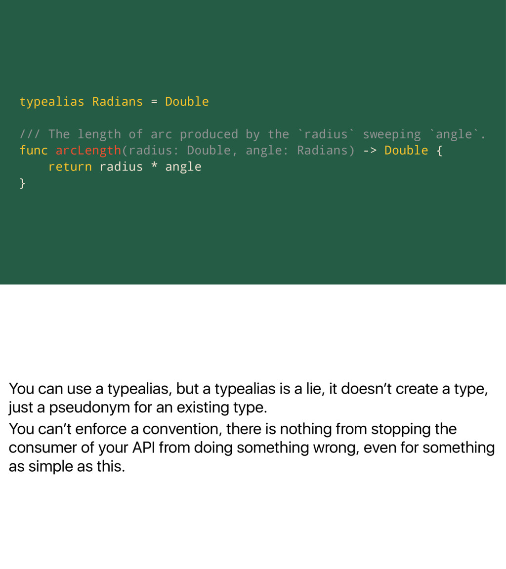 You can use a typealias, but a typealias is a l...