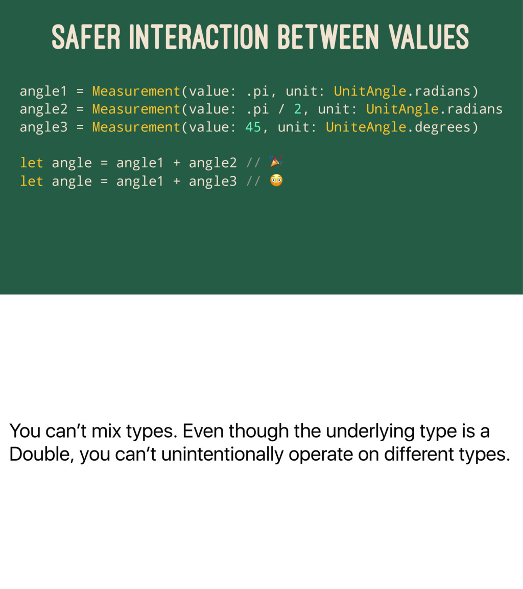 You can't mix types. Even though the underlying...