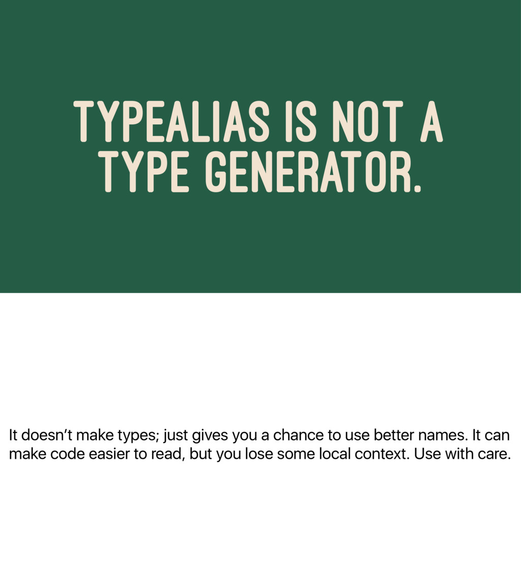 It doesn't make types; just gives you a chance ...