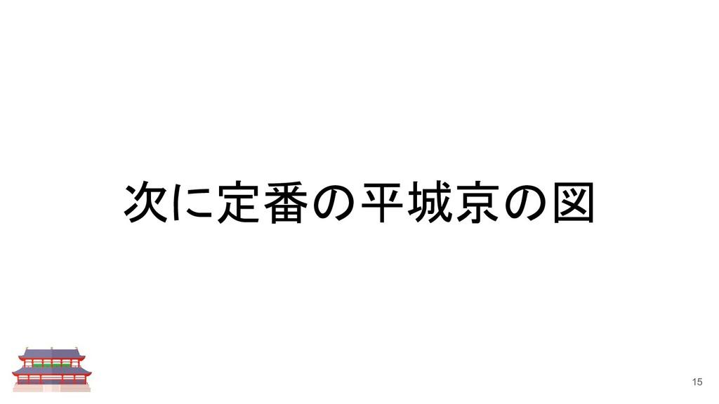 次に定番の平城京の図 15