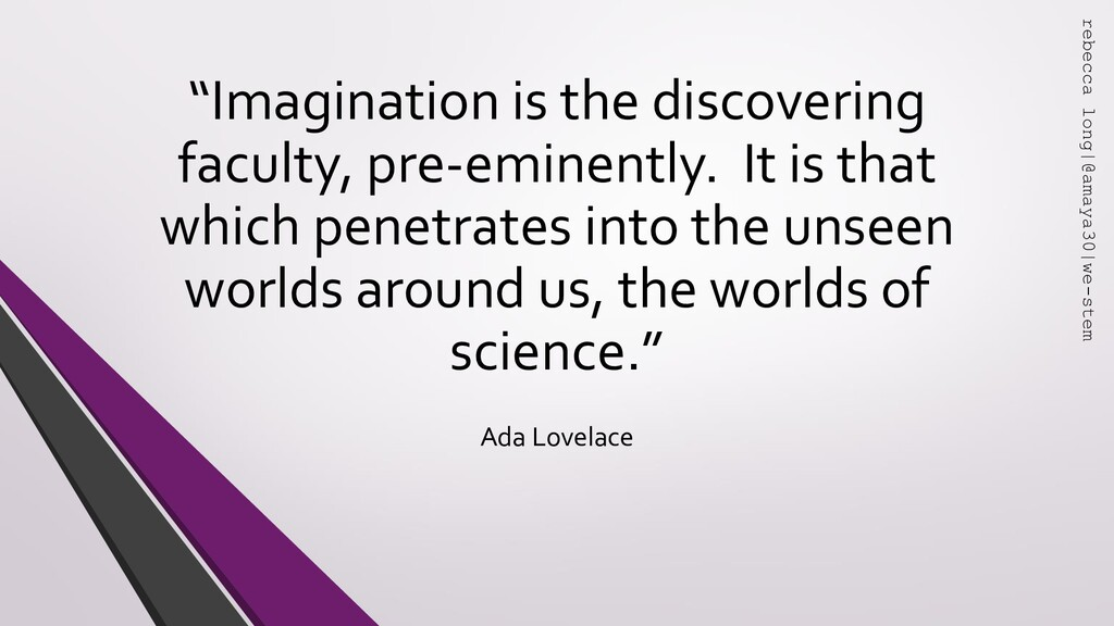 """"""" """" """"Imagination is the discovering faculty, pr..."""