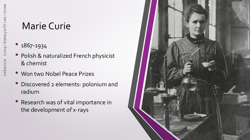 Marie Curie • 1867-1934 • Polish & naturalized ...