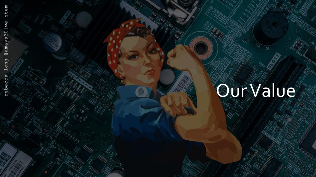 Our Value rebecca long|@amaya30|we-stem