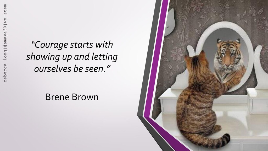 """""""Courage starts with showing up and letting our..."""