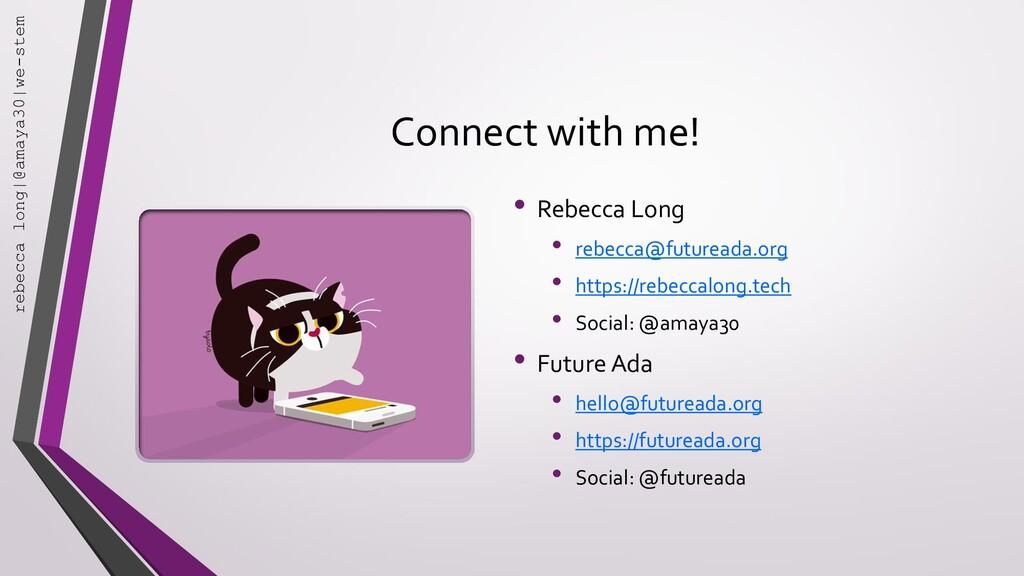Connect with me! • Rebecca Long • rebecca@futur...