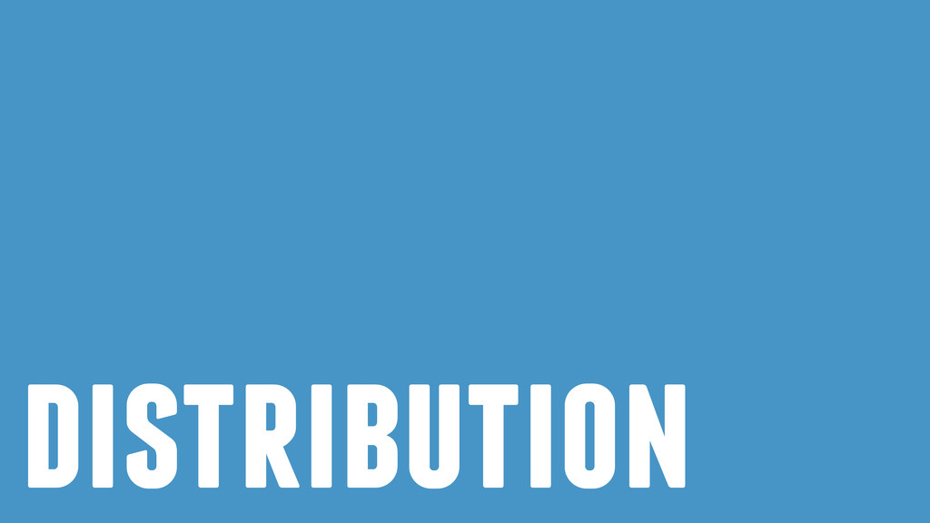 ! distribution
