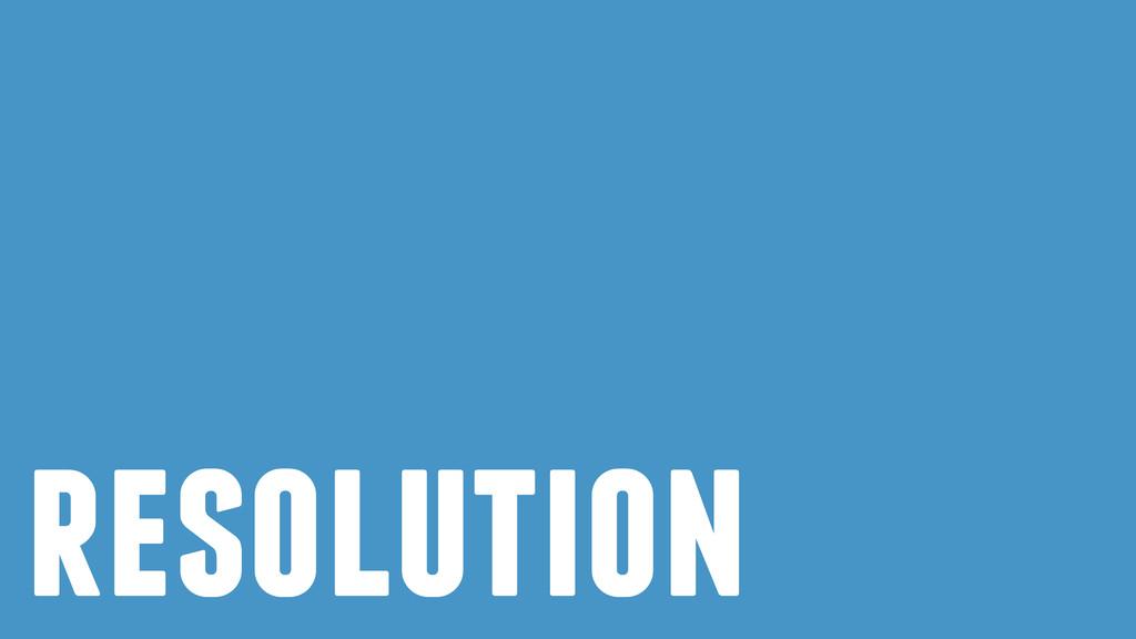 ! resolution