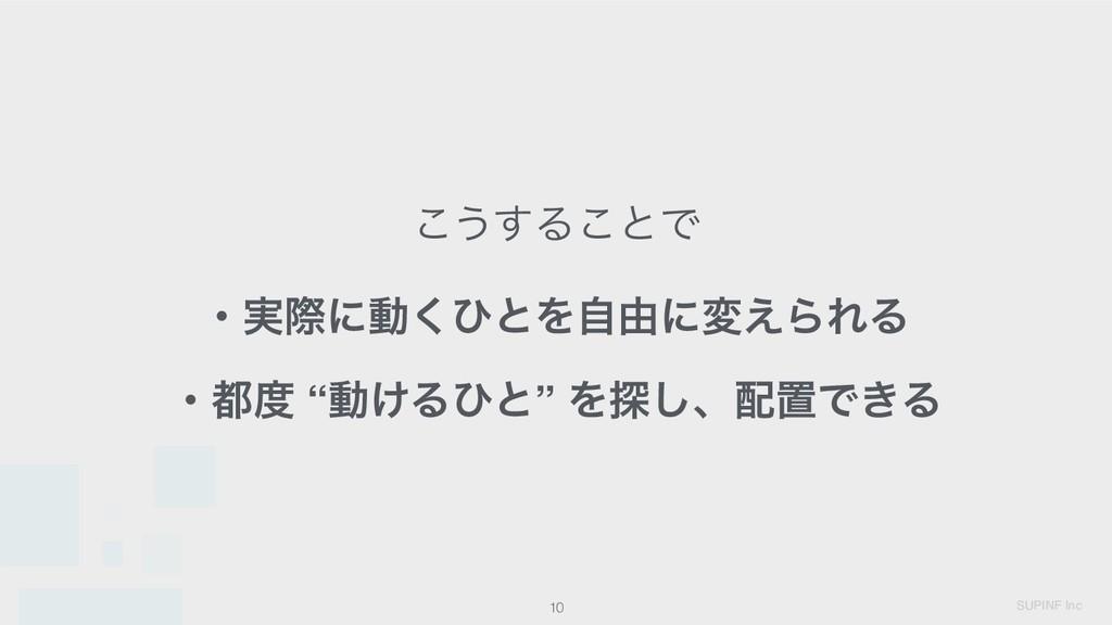 "SUPINF Inc 10 ͜͏͢Δ͜ͱͰ ɾ࣮ࡍʹಈ͘ͻͱΛࣗ༝ʹม͑ΒΕΔ ɾ ""ಈ͚..."