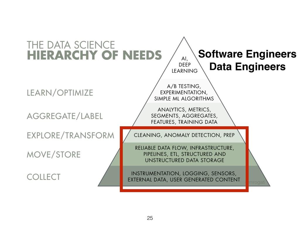 25 Software Engineers Data Engineers