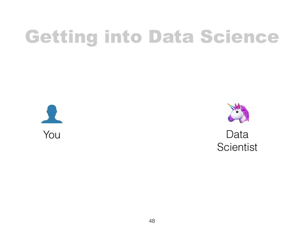 Getting into Data Science 48 You 🦄 Data Scienti...