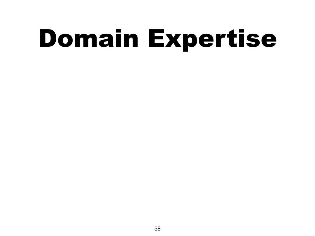 Domain Expertise 58