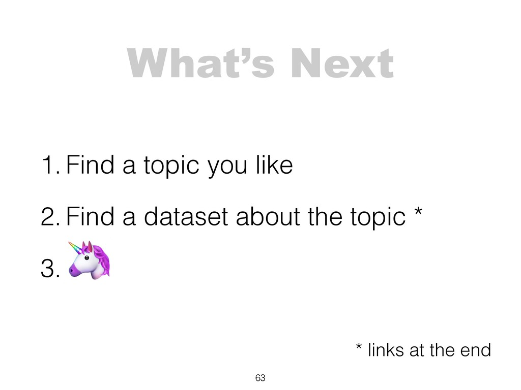 What's Next 1. Find a topic you like 2. Find a ...