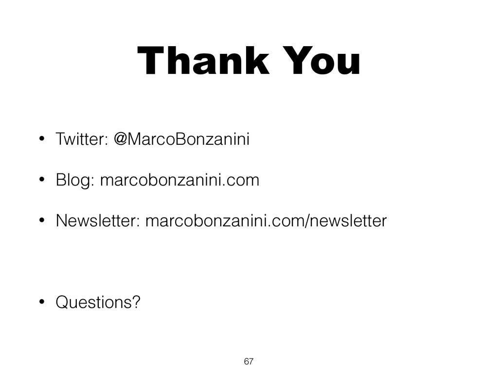 Thank You • Twitter: @MarcoBonzanini • Blog: ma...
