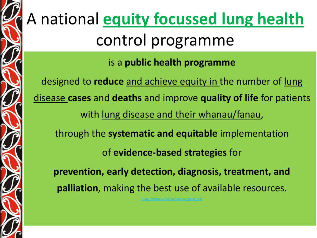A national equity focussed lung health control ...