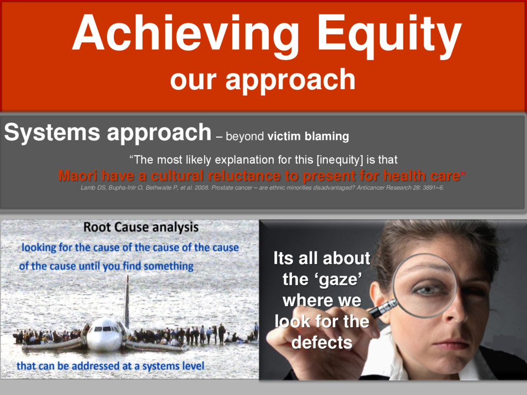 Achieving Equity our approach Systems approach ...