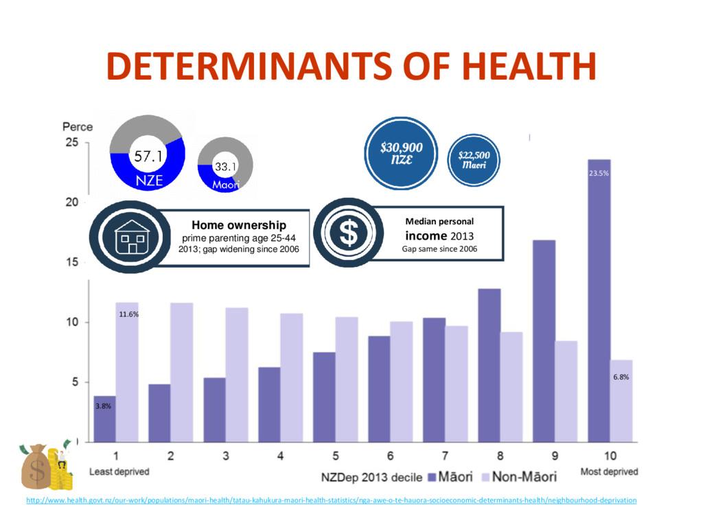 DETERMINANTS OF HEALTH http://www.health.govt.n...