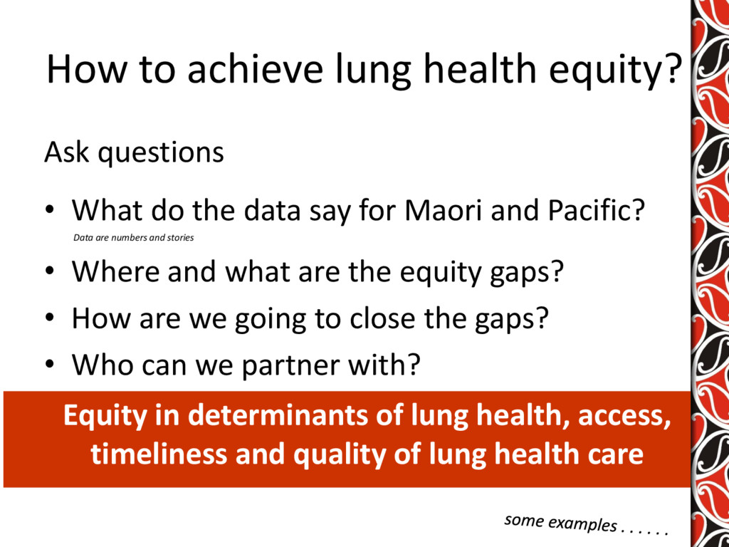 How to achieve lung health equity? Ask question...