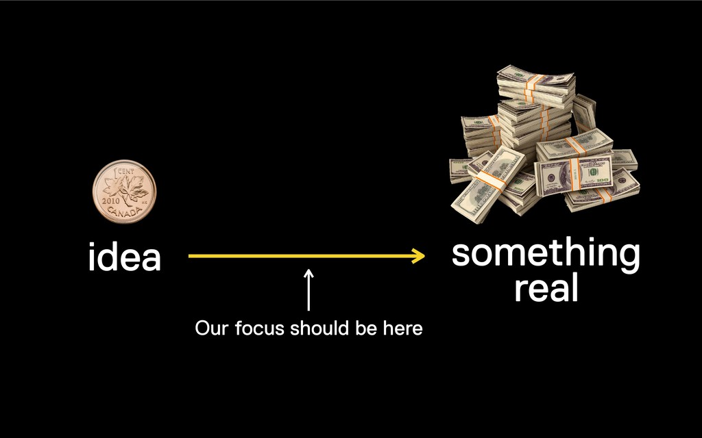 idea something real Our focus should be here