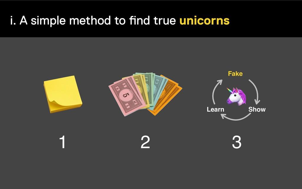 i. A simple method to find true unicorns 1 2 3 ...