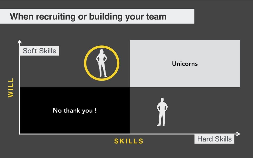 Unicorns No thank you ! Soft Skills Hard Skills...