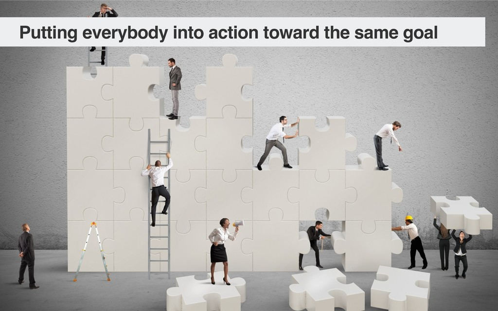 Putting everybody into action toward the same g...