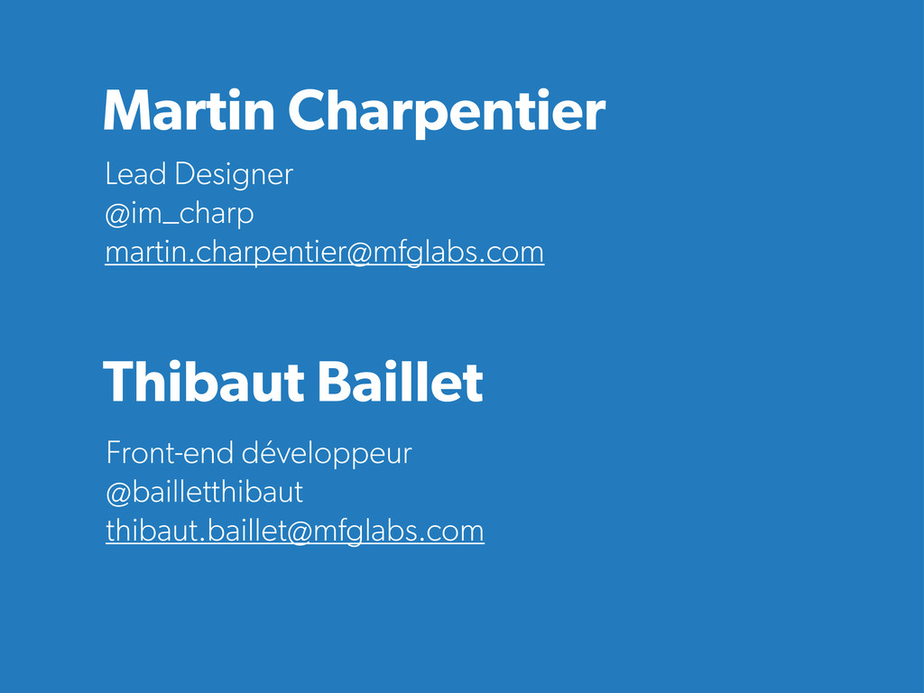 Front-end développeur @bailletthibaut thibaut.b...