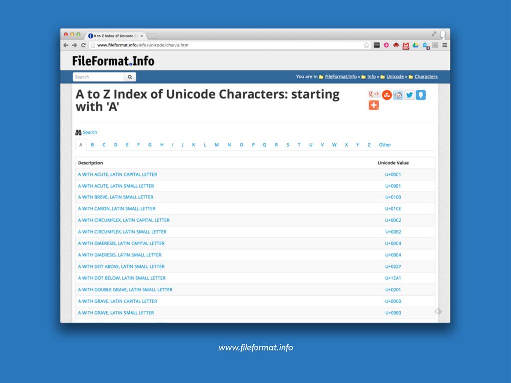 www.fileformat.info