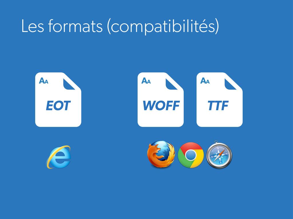 Les formats (compatibilités) EOT AA WOFF AA TTF...