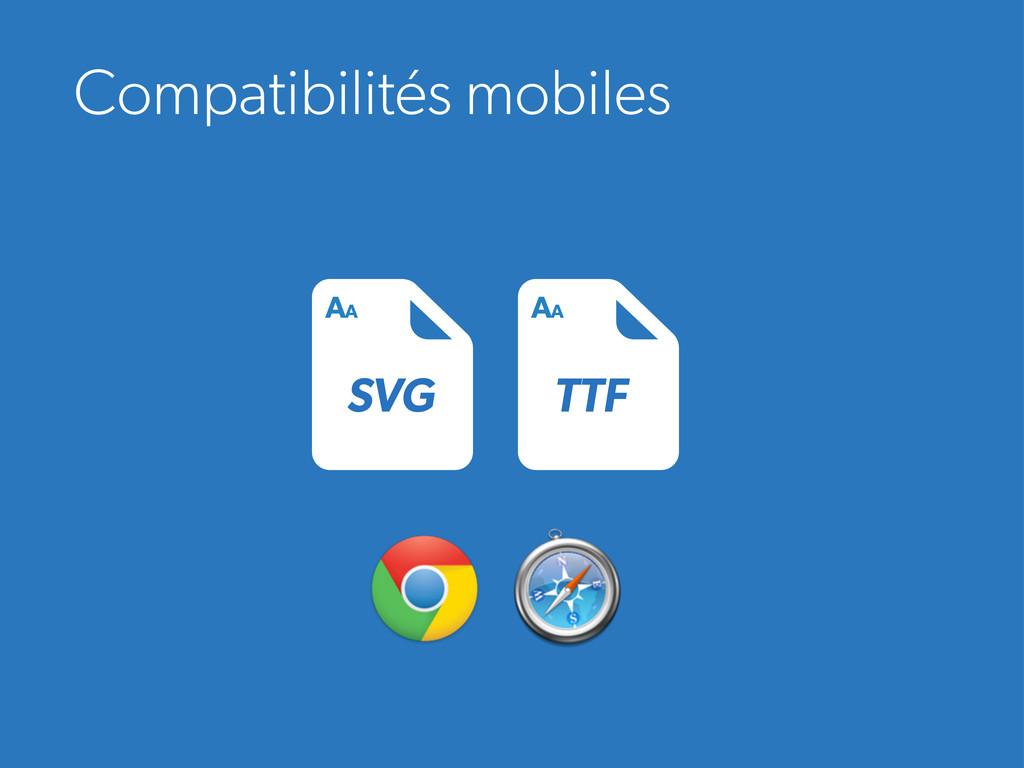 Compatibilités mobiles SVG AA TTF AA