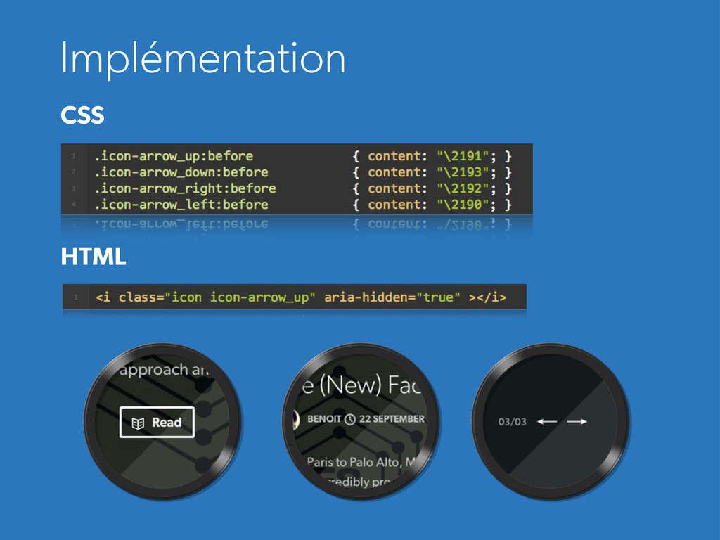 Implémentation CSS HTML