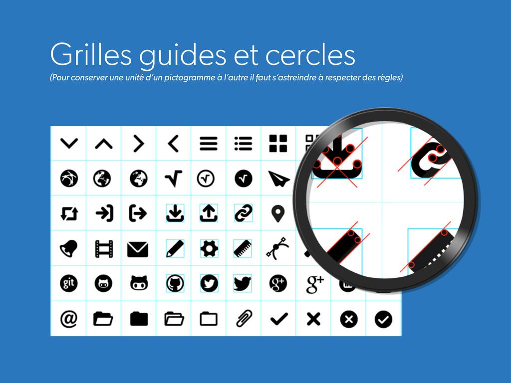 Grilles guides et cercles (Pour conserver une u...