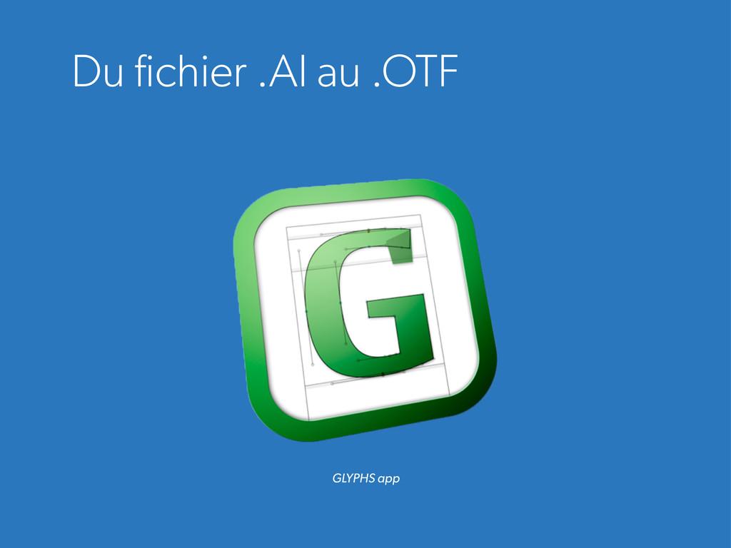 Du fichier .AI au .OTF GLYPHS app