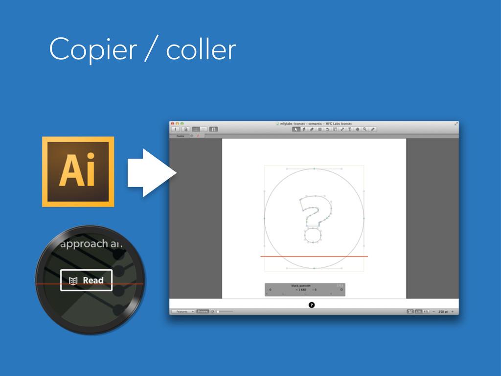 Copier / coller