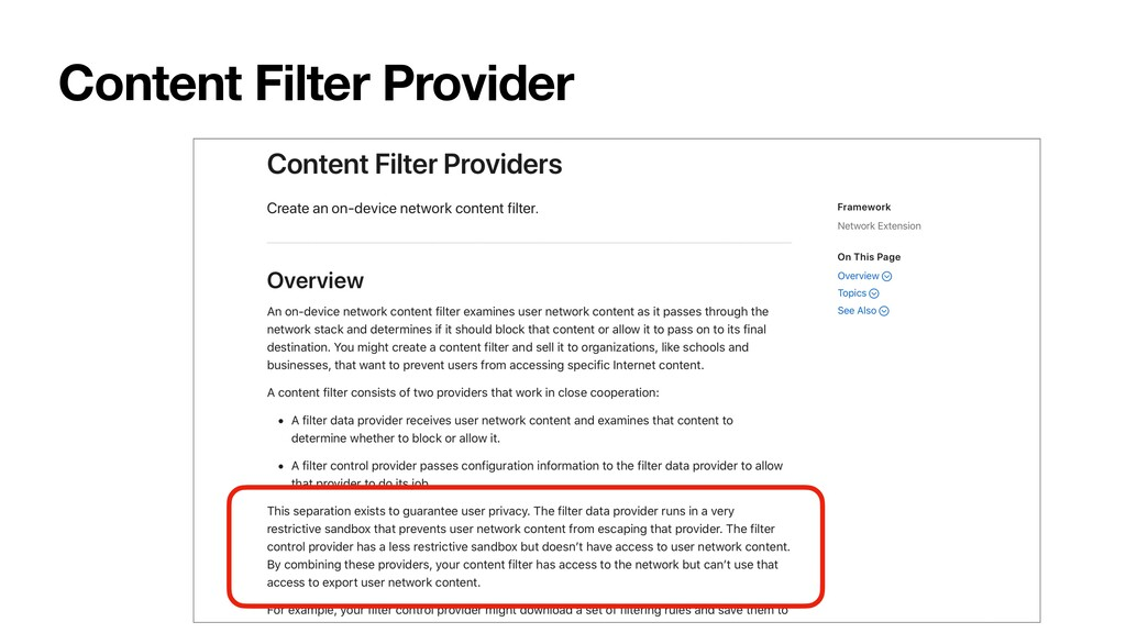 Content Filter Provider