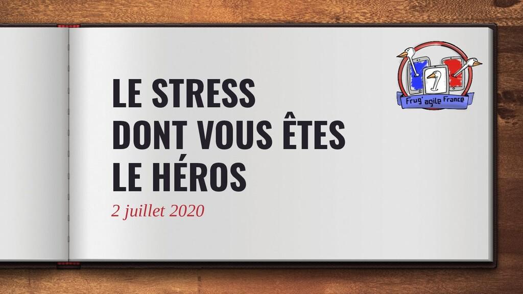LE STRESS DONT VOUS ÊTES LE HÉROS 2 juillet 2020