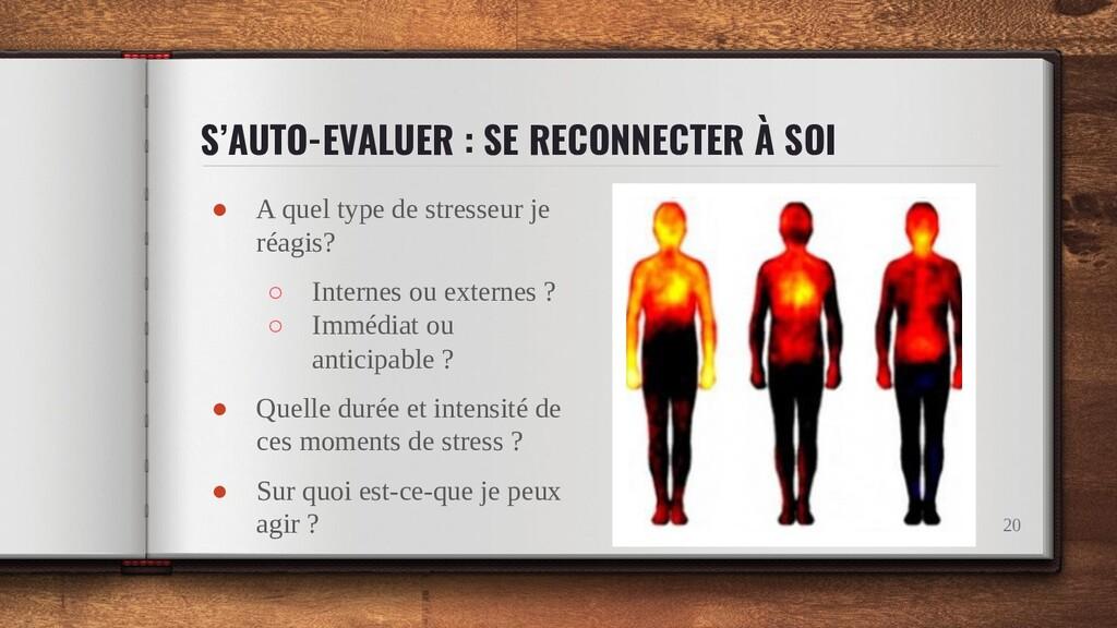 S'AUTO-EVALUER : SE RECONNECTER À SOI ● A quel ...