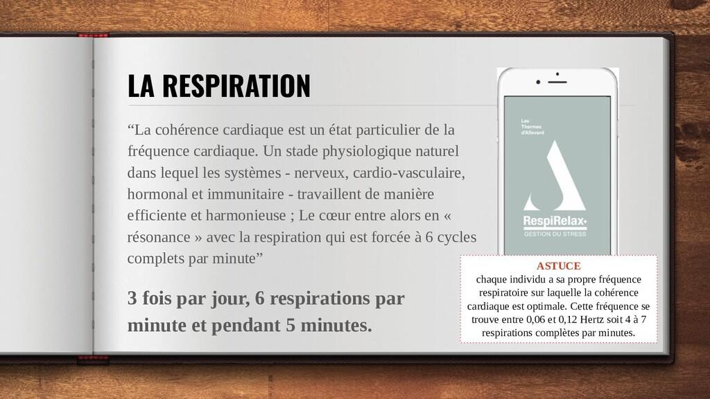 """LA RESPIRATION """"La cohérence cardiaque est un é..."""