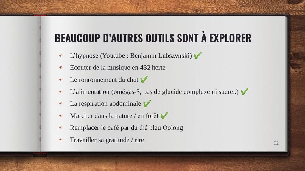 BEAUCOUP D'AUTRES OUTILS SONT À EXPLORER ◈ L'hy...