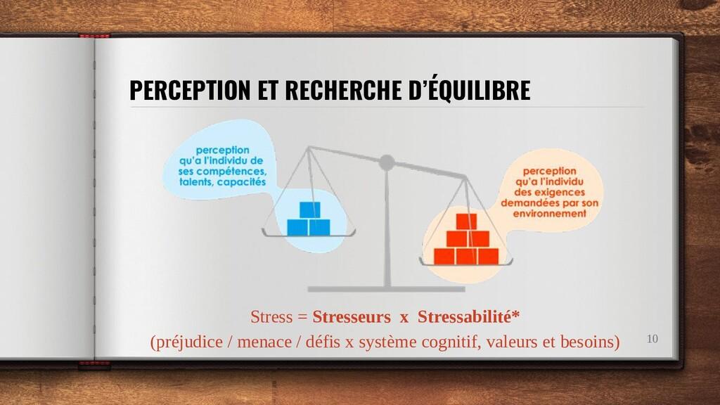 PERCEPTION ET RECHERCHE D'ÉQUILIBRE 10 Stress =...