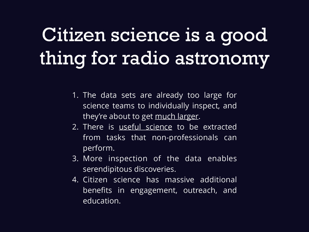 Citizen science is a good thing for radio astro...